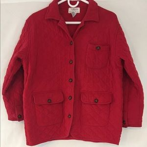 Talbots Petites Puffy Red Coat with Pockets